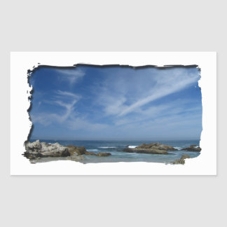 Playa perfecta pegatina rectangular