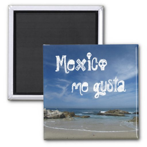 Playa perfecta; Recuerdo de México Imán Cuadrado