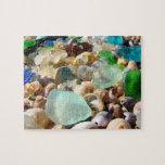 Playa personalizada Seaglass de los regalos de vac Puzzle