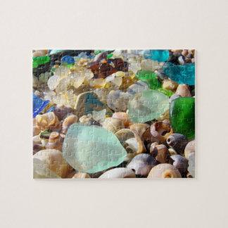 Playa personalizada Seaglass de los regalos de vac Rompecabeza Con Fotos