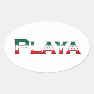 Playa (Playa del Carmen) Oval Sticker