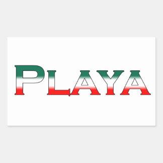 Playa (Playa del Carmen) Rectangular Sticker