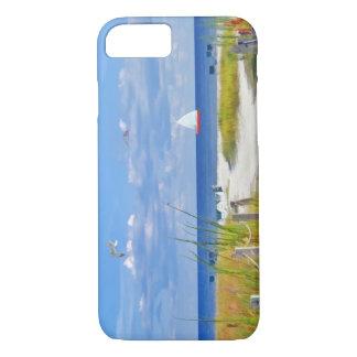Playa, playa, y pájaros, personalizable funda iPhone 7