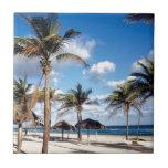 Playa Playas Cuba Azulejo Cuadrado Pequeño