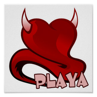 Playa Player Devilish Heart Posters