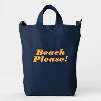 ¡Playa por favor! Bolsa De Lona Duck