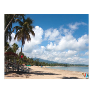 "Playa Puerto Rico de Luquillo Folleto 8.5"" X 11"""
