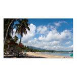 Playa Puerto Rico de Luquillo Tarjetas De Visita