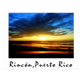 Playa Puerto Rico de Rincon Tarjeta Postal