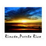 Playa Puerto Rico de Rincón Tarjetas Postales