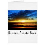 Playa Puerto Rico de Rincon Tarjeton