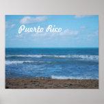 Playa puertorriqueña impresiones