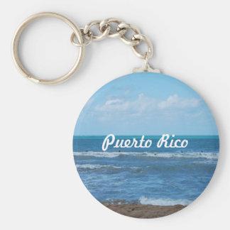 Playa puertorriqueña llavero redondo tipo pin