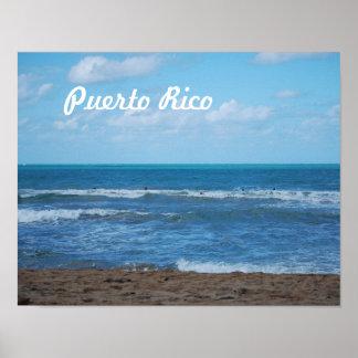 Playa puertorriqueña póster