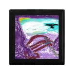 Playa púrpura cajas de recuerdo