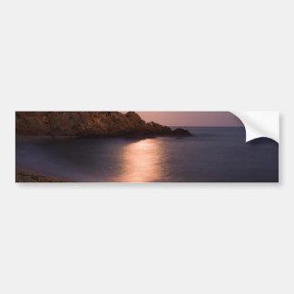 Playa púrpura Cataluña, España de la puesta del Pegatina Para Auto