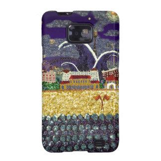 Playa púrpura de la neblina el 2% el pipe% Bondi Samsung Galaxy SII Carcasas