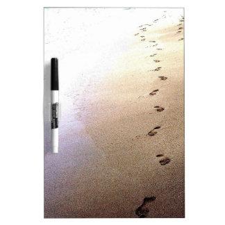 Playa que camina Barbados de los sistemas de las h Pizarra Blanca