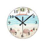 Playa rara relojes de pared