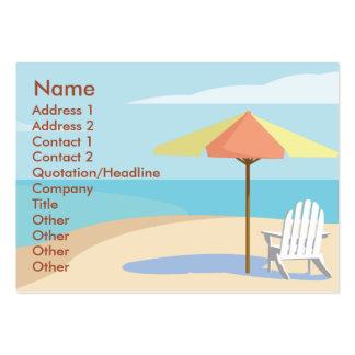 Playa - rechoncha plantillas de tarjetas personales