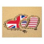 Playa Reino Unido y corazones del amor de los Comunicado