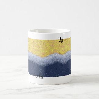 playa, resaca para arriba taza