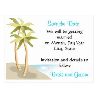 Playa/reserva tropical del boda la postal de la fe