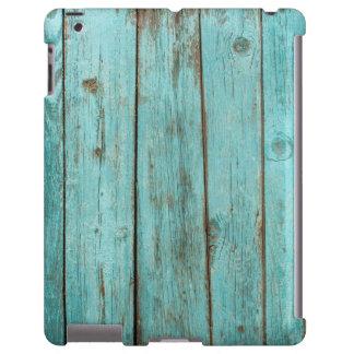 Playa resistida madera de madera del granero del t funda para iPad