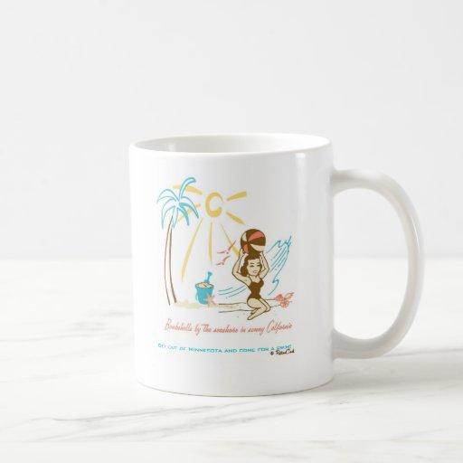 'Playa retra Bombshell Taza De Café
