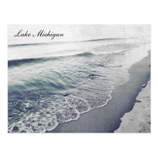 Playa retra hermosa de la línea de la playa del tarjetas postales