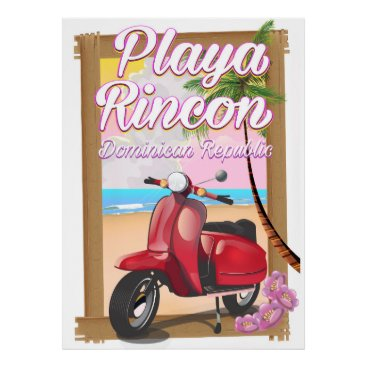 Beach Themed Playa Rincon Dominican Republic Poster