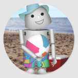 Playa Robo-x9 encuadernado Etiqueta Redonda