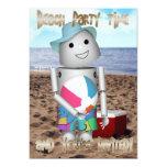Playa Robo-x9 encuadernado Invitación 12,7 X 17,8 Cm