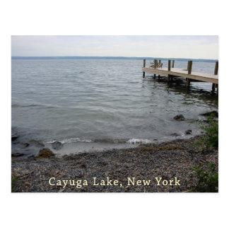 Playa rocosa del lago Cayuga Tarjeta Postal