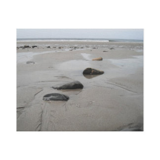 Playa rocosa impresiones en lona