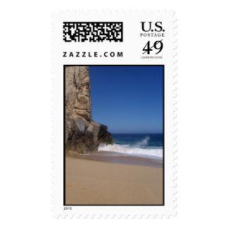 Playa rocosa sello