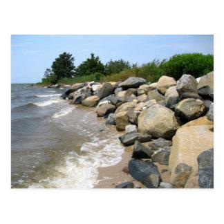 Playa rocosa postal