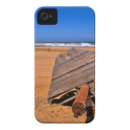 Playa roja de Sandy (HDR) iPhone 4 Protectores