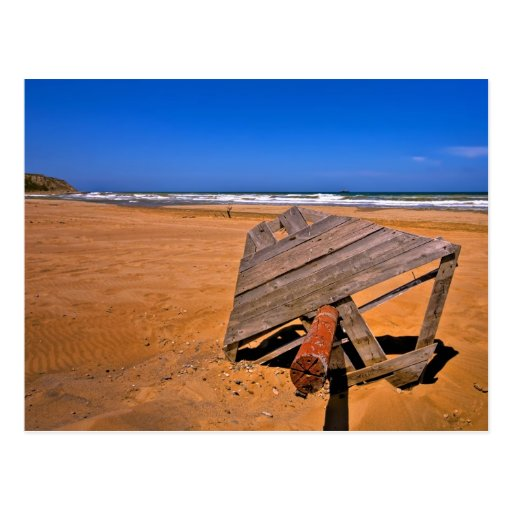 Playa roja de Sandy (HDR) Postales