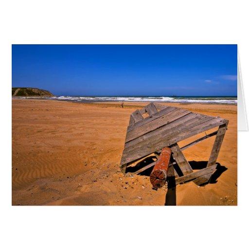Playa roja de Sandy (HDR) Tarjeta De Felicitación