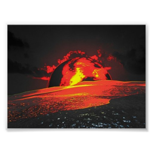 playa roja póster