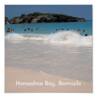 Playa rosada #1, bahía de herradura, Bermudas de l Póster