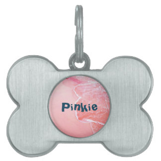 Playa rosada de Bermudas Placa De Mascota