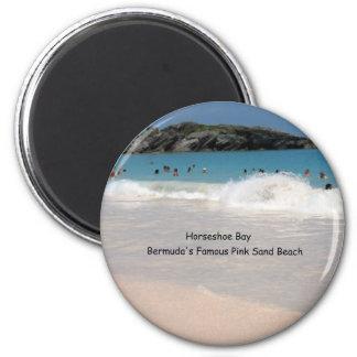 Playa rosada de la arena de Bermudas Imán Para Frigorifico