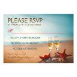 Playa RSVP que se casa romántico de la puesta del  Comunicados Personales