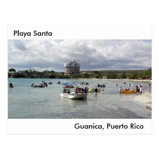 Playa Santa en Guanica Puerto Rico Postcard