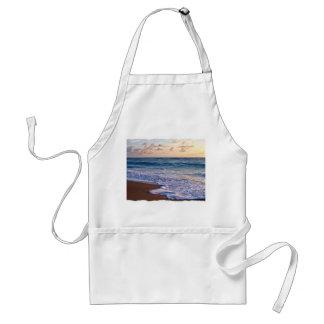 Playa saturada de la Florida en la salida del sol Delantales
