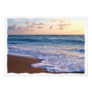 Playa saturada de la Florida en la salida del sol Comunicado Personalizado