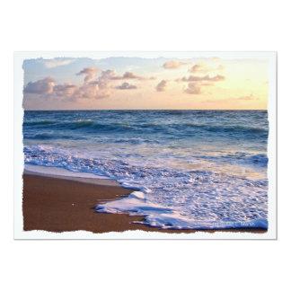 """Playa saturada de la Florida en la salida del sol Invitación 5"""" X 7"""""""