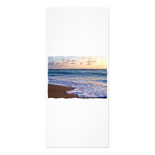 Playa saturada de la Florida en la salida del sol Tarjeta Publicitaria